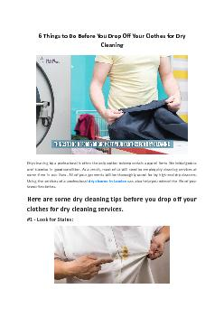 6 Things to Do Before You Drop Off Your Clothes for Dry Cleaning - Prime Laundry