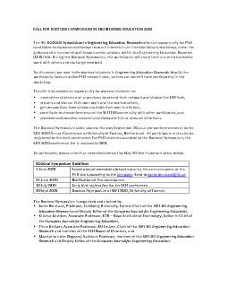 CALL FOR DOCTORAL