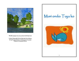 This Ho language story was produced with help from