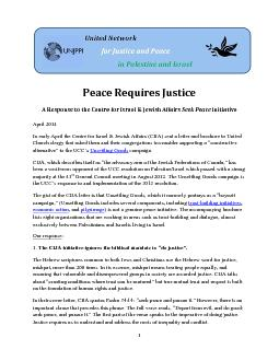 Peace Requires Justice