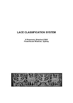 LACE CLASSIFICATION SYSTEM