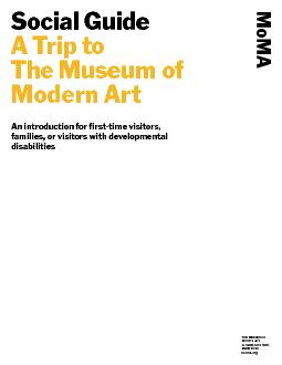 Social Guide A Trip to The Museum of Modern ArtAn introduction for fir