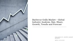 Barbecue Grills Market – Global Industry Analysis, Size, Share, Growth, Trends and Forecast