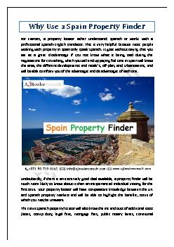Why Use a Spain Property Finder