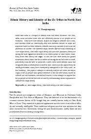 Ethnic History and Identity of the Zo Tribes in North EastZo Khul ori