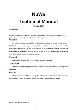 NuWaTechnical ManualVersion 10A
