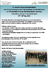 German Young Geomorphologistsinvite all interested young researchers i