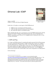Ethereal Lab ICMP Version July    J
