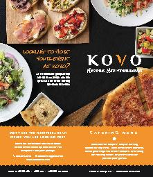 CATERING MENUKOVO offers a complete array of cateringoptions for any e