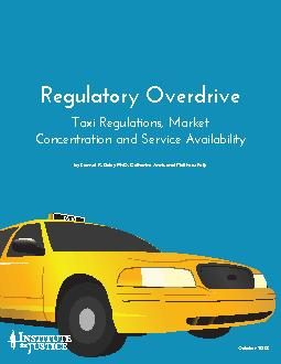 Regulatory Overdrive Taxi Regulations Market Concentration and Servic