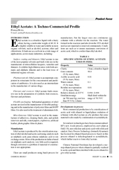 CHEMICAL WEEKLY AUGUST    Product Focus Ethyl Acetate