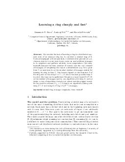 Learning a ring cheaply and fast Emanuele G