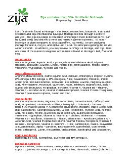 Zija contains over 90 Verifiable Nutrients