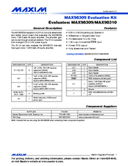 General Description The MAX evaluation kit EV kit is a