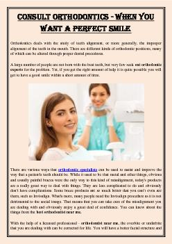 Consult Orthodontics - When You Want a Perfect Smile