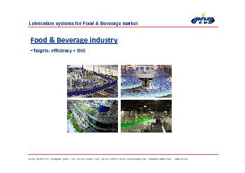 Lubrication systems for Food  Beverage market