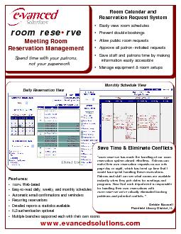 room rese149Meeting Room Reservation ManagementSpend time with your