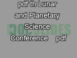 pdf th Lunar and Planetary Science Conference    pdf
