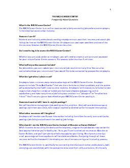 THE NECA CAREER CENTERFrequently Asked QuestionsWhat is the NECA Caree