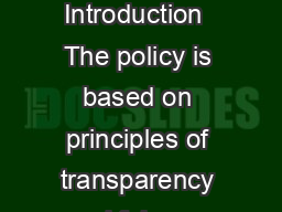Cheque Collection Policy of our Bank  Introduction  The policy is based on principles of transparency a nd fairness in the treatment of customers PowerPoint PPT Presentation