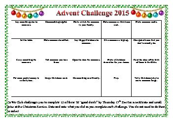 challenges you to complete 15 of these 20 good deeds by Thursday