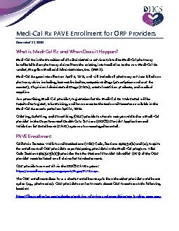 Cal Rx PAVE Enrollment for ORP Providers
