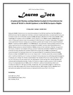 MSPH Technical Report DefenseLauren JocaA Systematic Review and Qualit