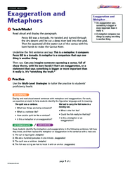 Exaggeration and Metaphors Apply Have students apply t PowerPoint PPT Presentation
