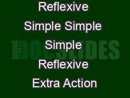 Reflexive Simple Simple Simple Reflexive Extra Action PowerPoint PPT Presentation