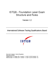 STQB Foundation Level Exam Structure and Rule Version