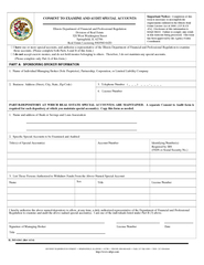 CONSENT TO EXAMINE AND AUDIT SPECIAL ACCOUNTS Illinois