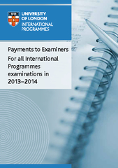 Payments to Examiners For all International Programmes