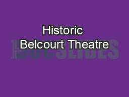 Historic Belcourt Theatre PDF document - DocSlides