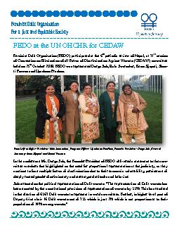 FEDO at the UN OHCHR for CEDAW
