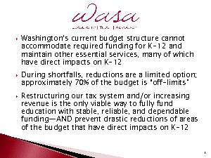 Washington146s current budget structure cannot accommodate required