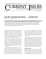 Core CPI Excluding Food Energy