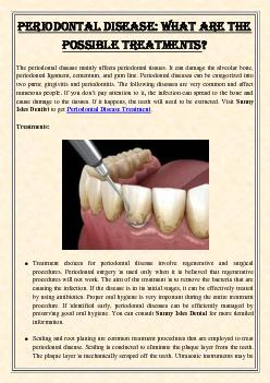 Periodontal Disease: What Are The Possible Treatments?