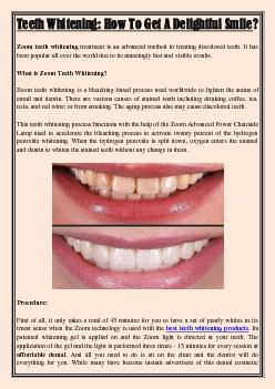 Teeth Whitening: How To Get A Delightful Smile?