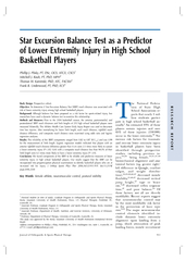 Star Excursion Balance Test as a Predictor of Lower Ex