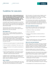 Guidelines for executors