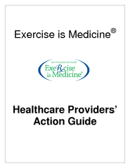 Exercise is Medicine Health are Providers Action Guide