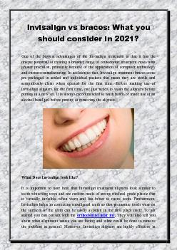 Invisalign vs braces: What you should consider in 2021?