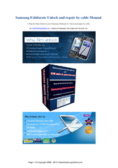 Samsung Exhilarate Unlock and repair by cable Manual A