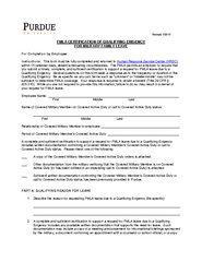 Revised  FMLA CERTIFICATION OF QUALIFYING EXIGENCY FOR