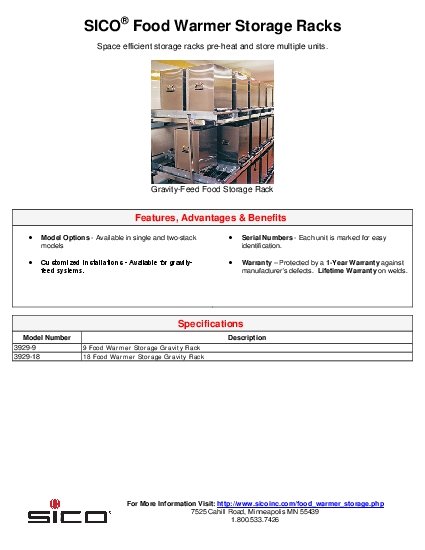 Space efficient storage racks preheat and store multiple units
