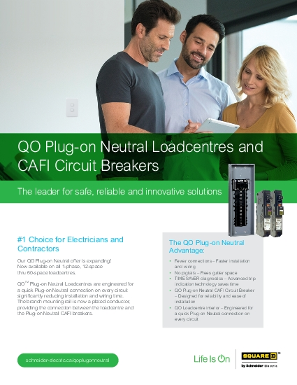 QO Plugon Neutral Loadcentres and CAFI Circuit BreakersThe leader for