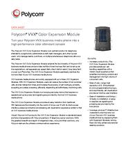 DATA SHEET Polycom VVX Color Expansion Module Turn you