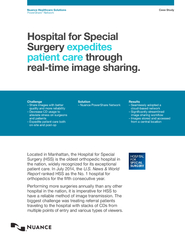 Hospital for special surgery expedites patient care through real time image sharing