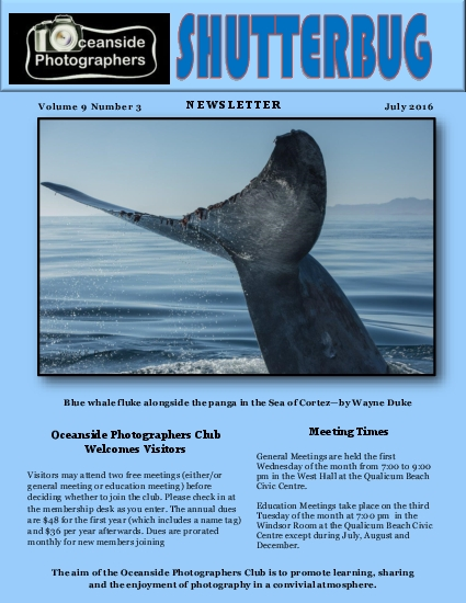The aim of the Oceanside Photographers Club is to promote learning sha