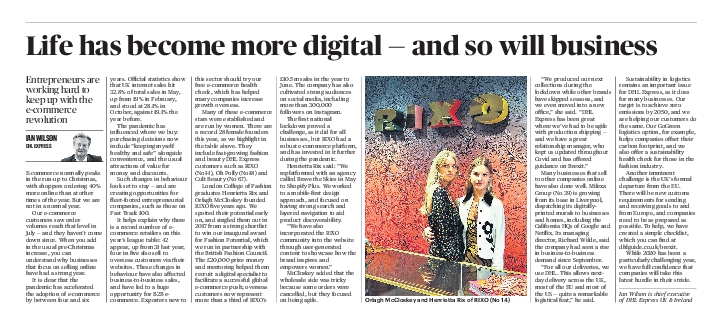 The Sunday Times December 6 2020FAST TRACK 100